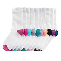 Women's Tek Gear® 10 pkHalf-Cushioned Crew Socks