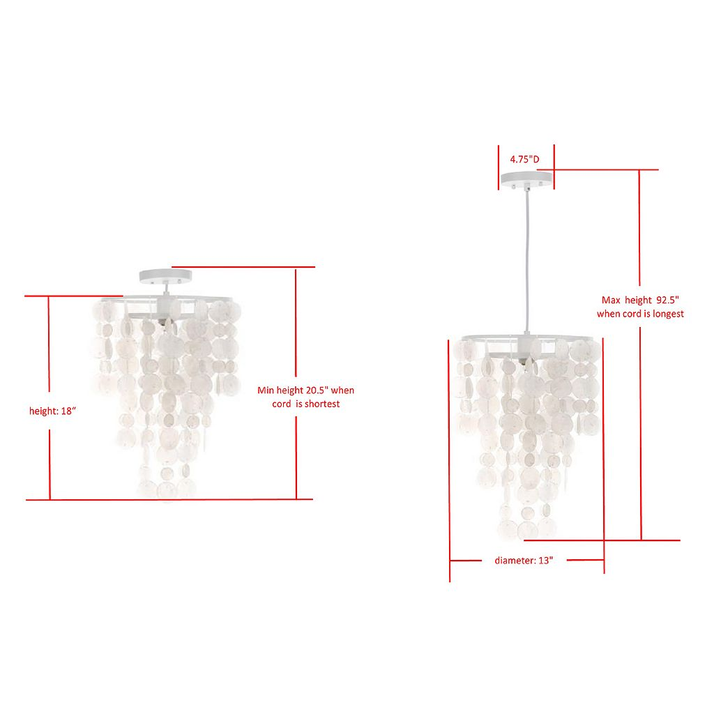 Safavieh Pearlized Capiz Shell Pendant Light