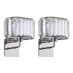 Safavieh Athena Faux Crystal Wall Sconce 2 pc Set