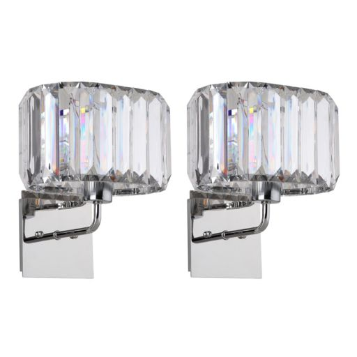 Safavieh Athena Faux Crystal Wall Sconce 2-piece Set