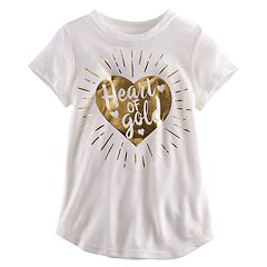 Toddler Girl Jumping Beans® 'Heart of Gold' Graphic Tee