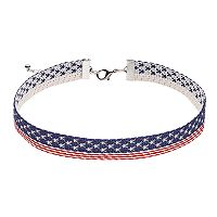 American Flag Choker Necklace