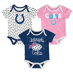 Baby Indianapolis Colts Heart Fan 3-Pack Bodysuit Set