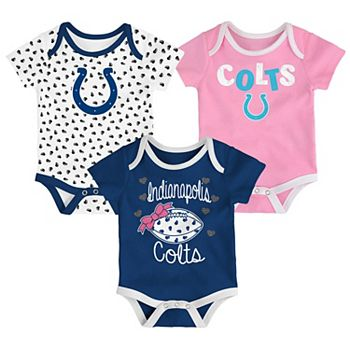 Baby Indianapolis Colts Heart Fan 3-Pack Bodysuit Set 5b0f471a3