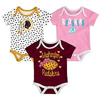 Baby Washington Redskins Heart Fan 3-Pack Bodysuit Set