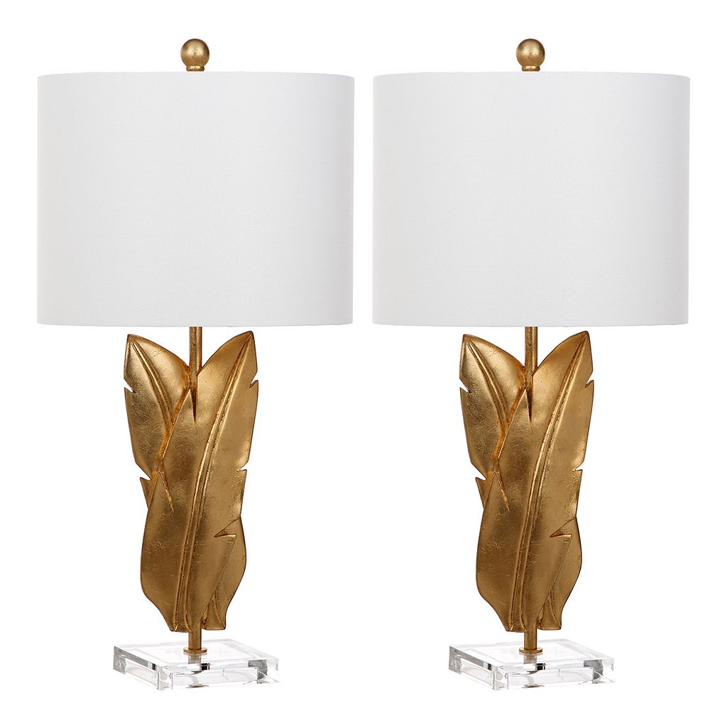 Safavieh Aerin Gold Finish Table Lamp 2-piece Set