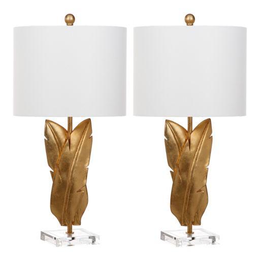 Safavieh Aerin Gold Finish Table Lamp 2-piece Set