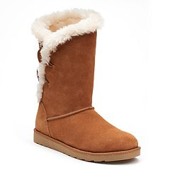 SO® Image Women's Suede Mid-Calf Boots