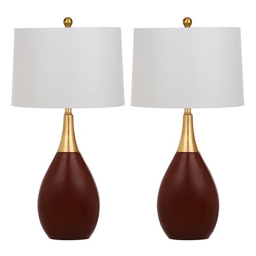 Safavieh Medallion Table Lamp 2-piece Set