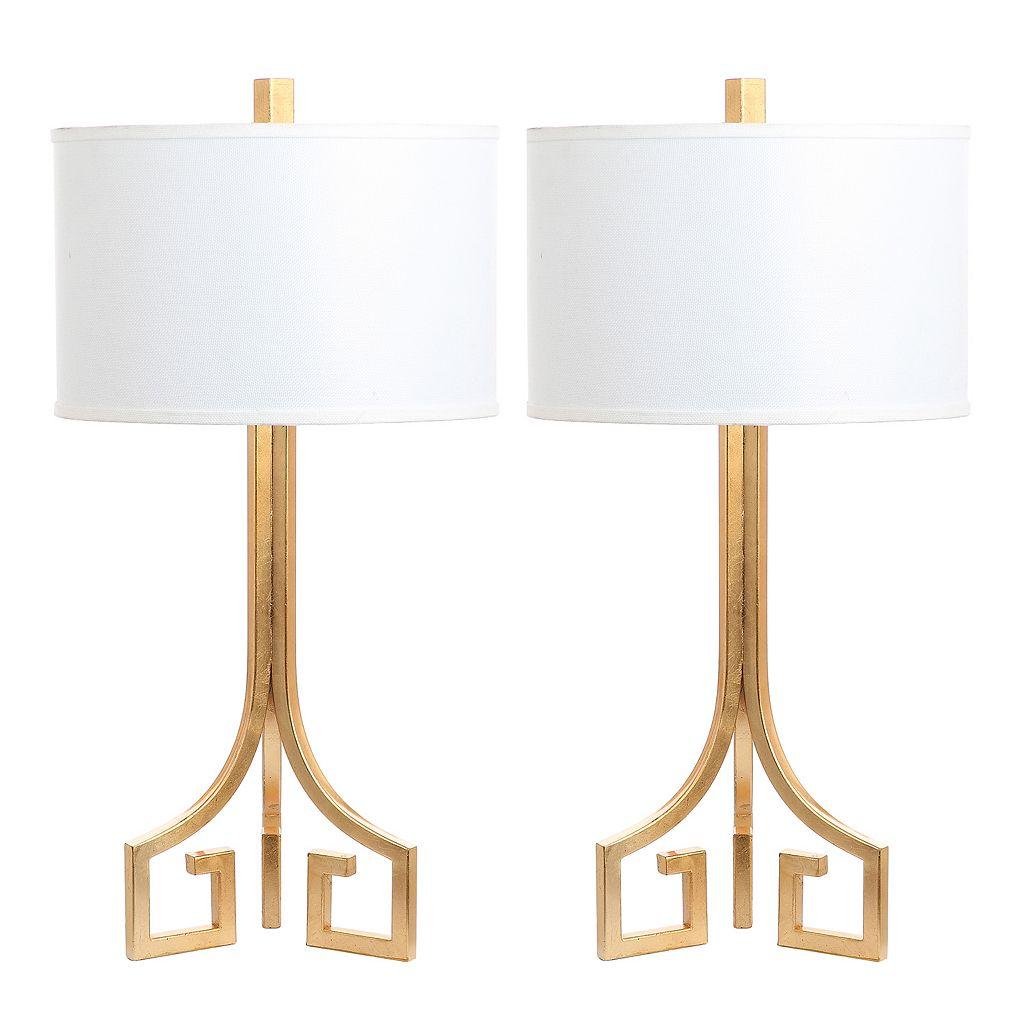 Safavieh Arabelle Gold Finish Table Lamp 2-piece Set