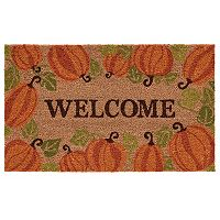 Mohawk® Home Happy Fall Pumpkins ''Welcome'' Coir Doormat - 18'' x 30''