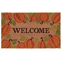 Mohawk® Home Happy Fall Pumpkins ''Welcome'' Coir Doormat - 18'' x 30''