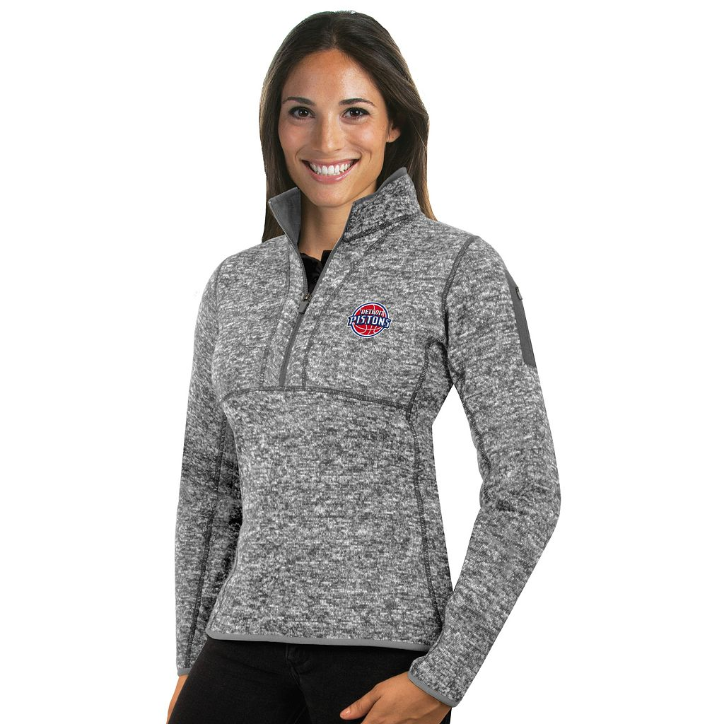 Women's Antigua Detroit Pistons Fortune Pullover