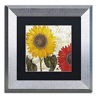 Trademark Fine Art Sundresses I Silver Finish Framed Wall Art