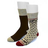 Men's Croft & Barrow® 2-pack Animal Wool-Blend Crew Socks