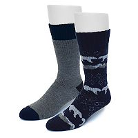 Men's Croft & Barrow® 2-pack Novelty Crew Socks