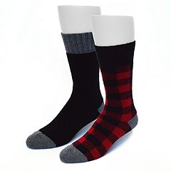 Men's Croft & Barrow® 2-pack Novelty Crew Socks