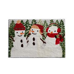 St. Nicholas Square® Christmas Traditions Snowmen Bath Rug