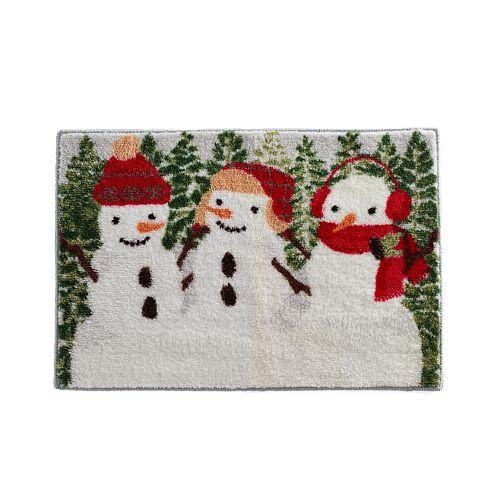 St. Nicholas Square® Christmas Traditions Snowmen Bath Rug