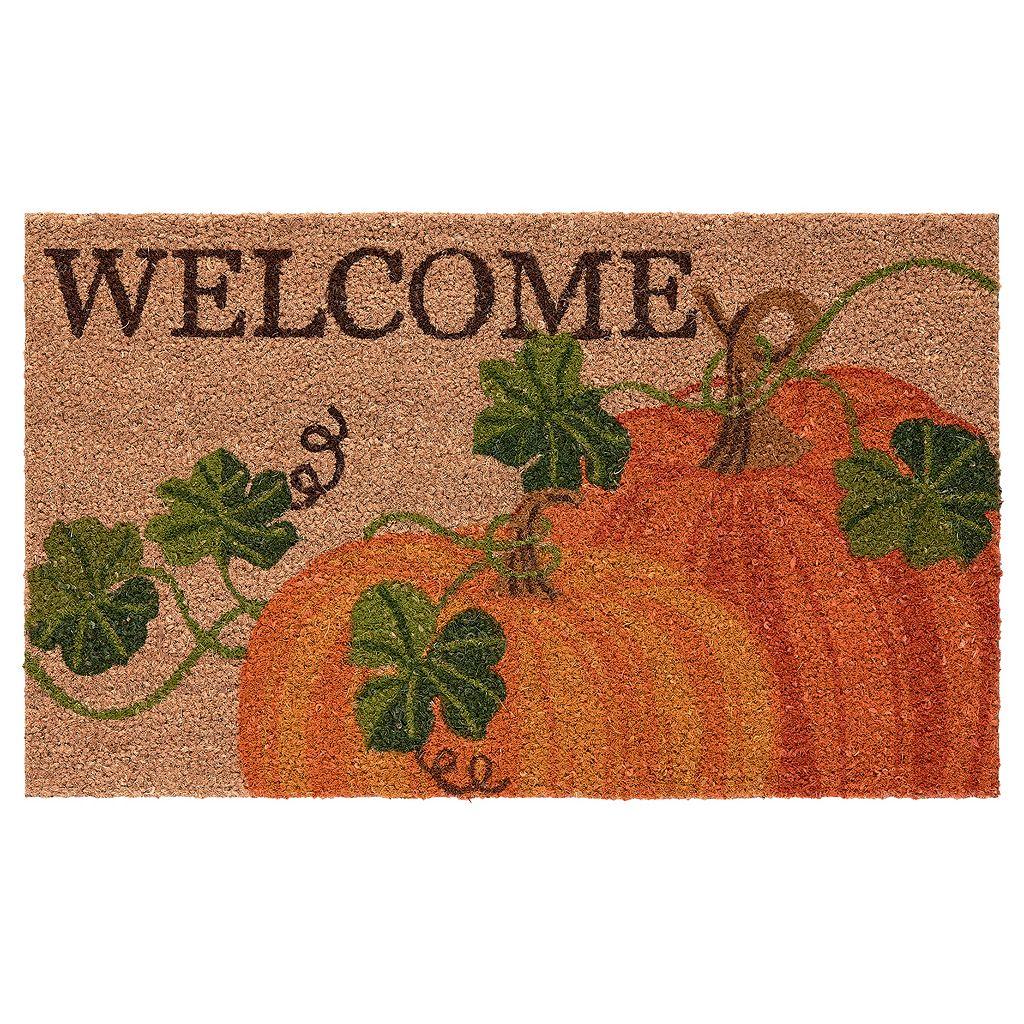 Mohawk® Home Woodcut Harvest ''Welcome'' Coir Doormat - 18'' x 30''