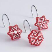 St. Nicholas Square® Christmas Traditions Snowflake Shower Curtain Hooks