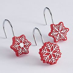 St. Nicholas Square® Christmas Traditions Snowflake Shower Curtain Hooks