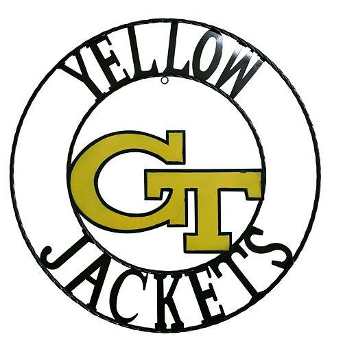 Georgia Tech Yellow Jackets 18-Inch Wrought Iron Wall Décor