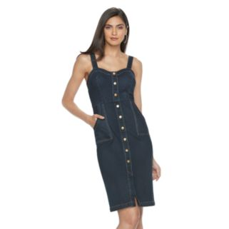 Women's Jennifer Lopez Faux-Snap Front Jean Dress