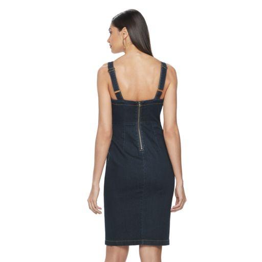 Women's Jennifer Lopez Faux-Snap Front Jean Dress