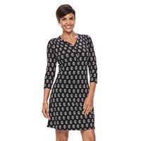 Women's Croft & Barrow® Printed Pullover Dress