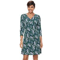 Women's Croft & Barrow® Printed Pullover Dress