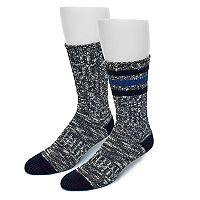 Men's Croft & Barrow® 2-pack Wool-Blend Crew Socks