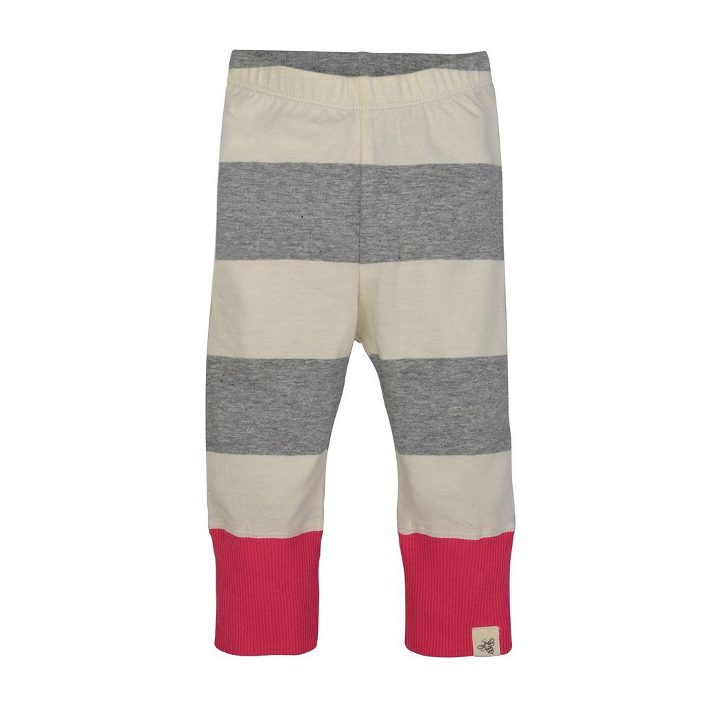 Baby Girl Burt's Bees Baby Striped Pants