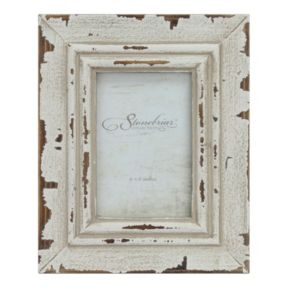 """Stonebriar Collection Weathered White 4"""" x 6"""" Frame"""