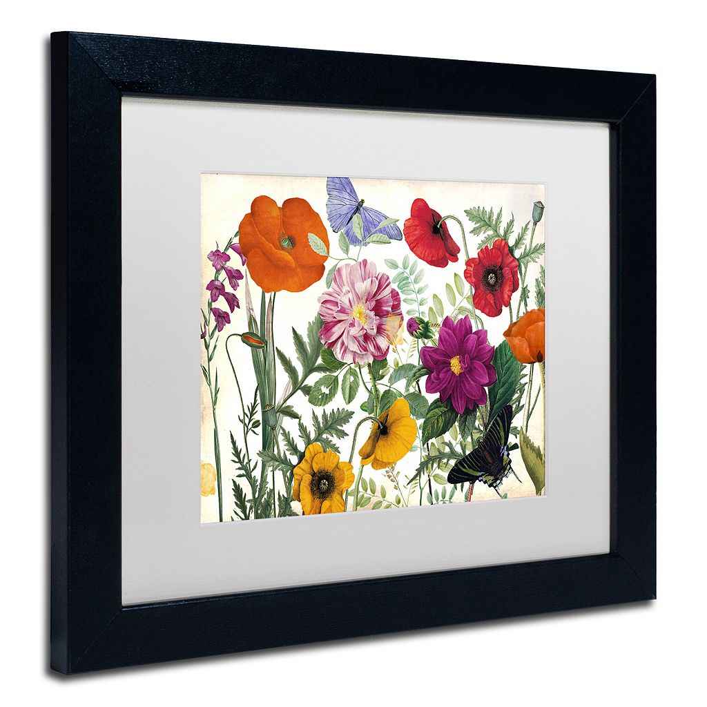 Trademark Fine Art Printemps I Black Framed Wall Art
