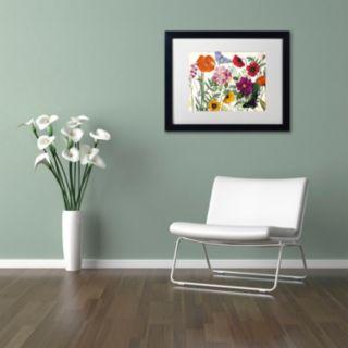 Trademark Fine Art Printemps I Black Framed Wall Art