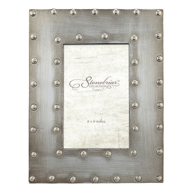 "Stonebriar Collection Industrial 4"" x 6"" Frame, Silver, 4X6"