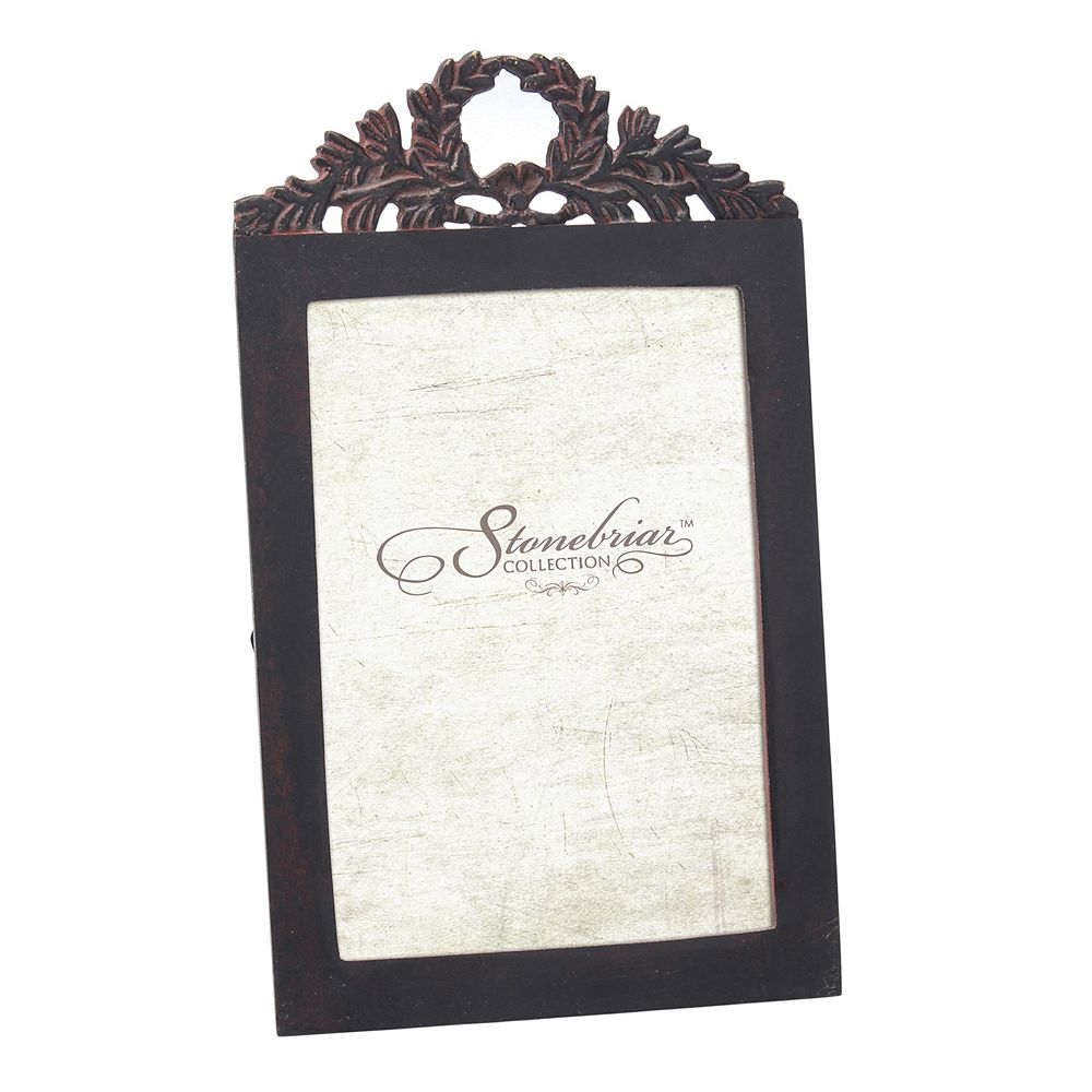"Stonebriar Collection Metal Baroque 4"" x 6"" Frame"