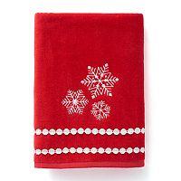 St. Nicholas Square® Christmas Traditions Snowflake Bath Towel