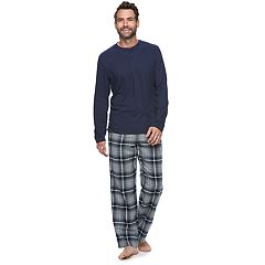 Men's Croft & Barrow® Henley & Plaid Flannel Lounge Pants Set