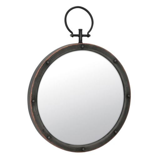 Stonebriar Collection Round Metal Wall Mirror