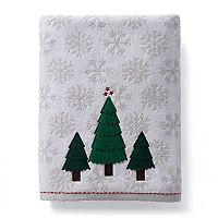 St. Nicholas Square® Christmas Traditions Felt Tree Bath Towel