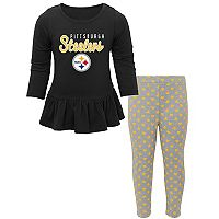 Baby Pittsburgh Steelers Tiny Trainer Tee & Pants Set