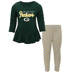 Baby Green Bay Packers Tiny Trainer Tee & Pants Set
