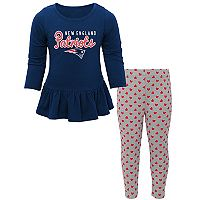 Baby New England Patriots Tiny Trainer Tee & Pants Set