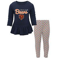 Baby Chicago Bears Tiny Trainer Tee & Pants Set