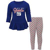 Baby New York Giants Tiny Trainer Tee & Pants Set