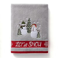 St. Nicholas Square® Christmas Traditions Snowman Bath Towel