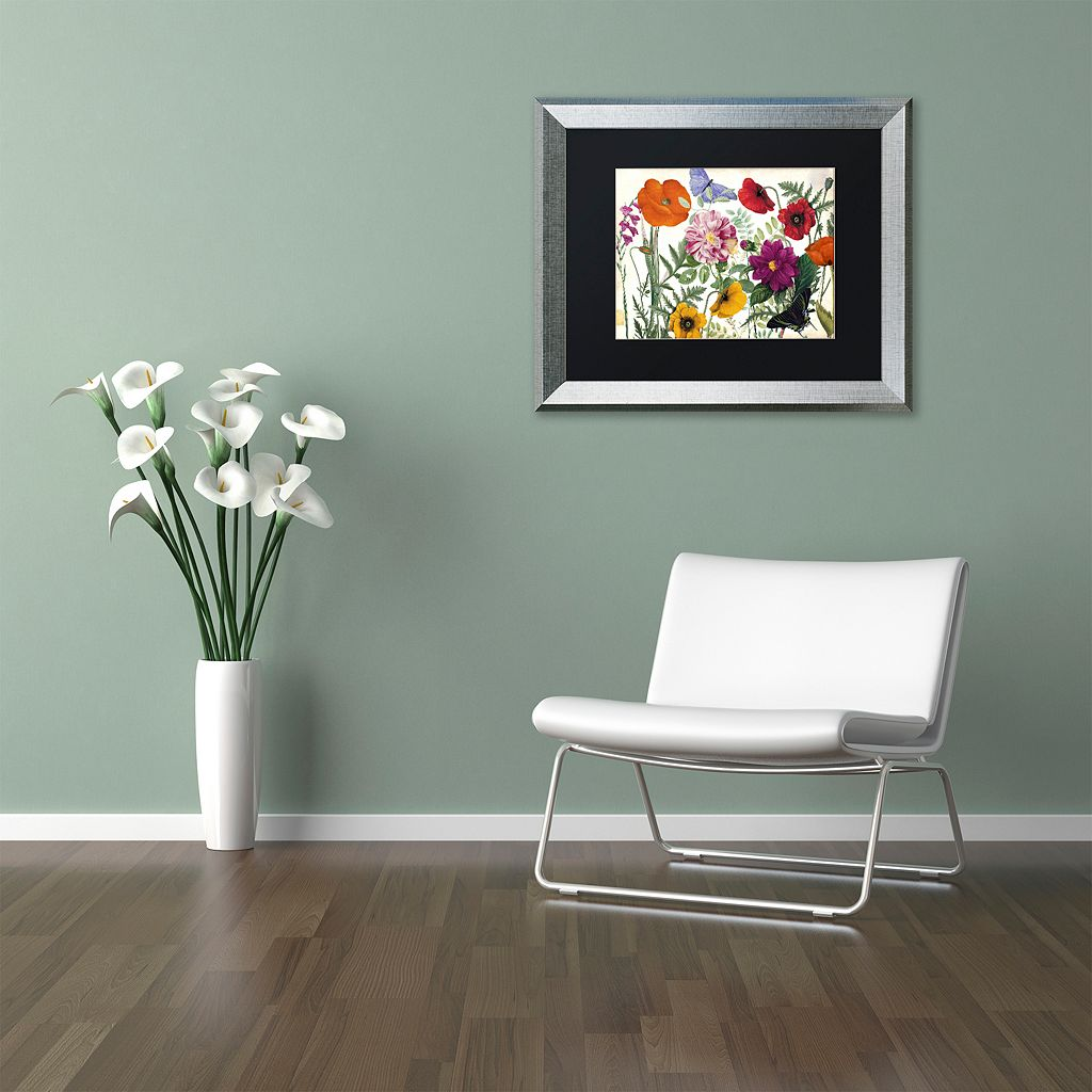 Trademark Fine Art Printemps I Silver Finish Framed Wall Art