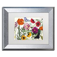 Trademark Fine Art Printemps I Silver Finish Framed Wall Art